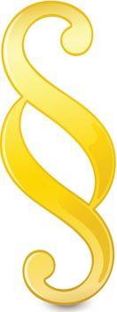 Illustration of a paragraph symbol