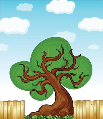 Illustration of an abstract tree