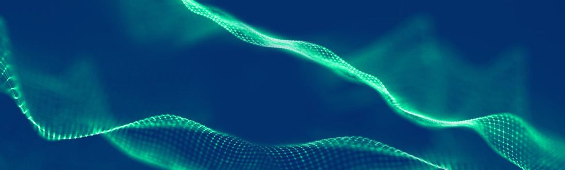 Abstract blue technology background wave. Futuristic background business technology concept. Abstract Digital technology background.