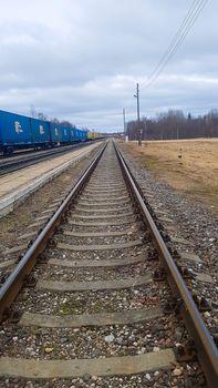 Railway for transportation in Latvia